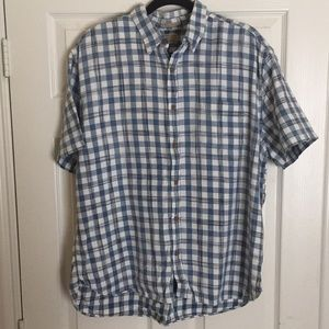 LUCKY BRAND shirt blue/white XL
